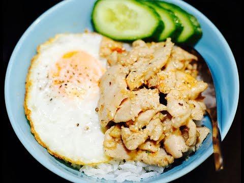 ไก่ผัดน้ำมันงาสูตรอาหารทำง่ายๆ